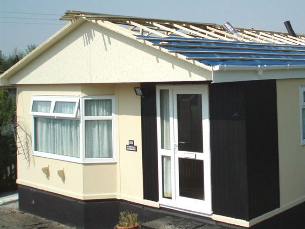 Park Home Refurbishment Lightweight Metal Tiled Roofing